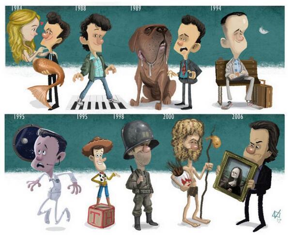 Evolución  Artísitica de Tom Hanks via @BuscoE